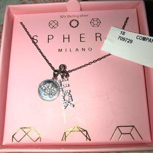 Women's Sphera Necklace. New 925 Silver